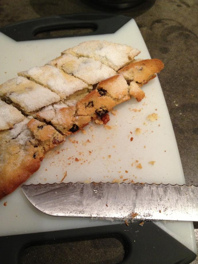 Cutting Biscotti