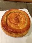 Pate-a-choux on puff pastry
