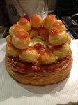 Stack the cream puffs