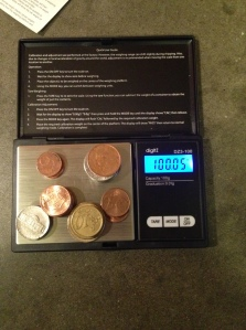 after calibration - I changed out the nickels - and what do you know, they were different.  sigh